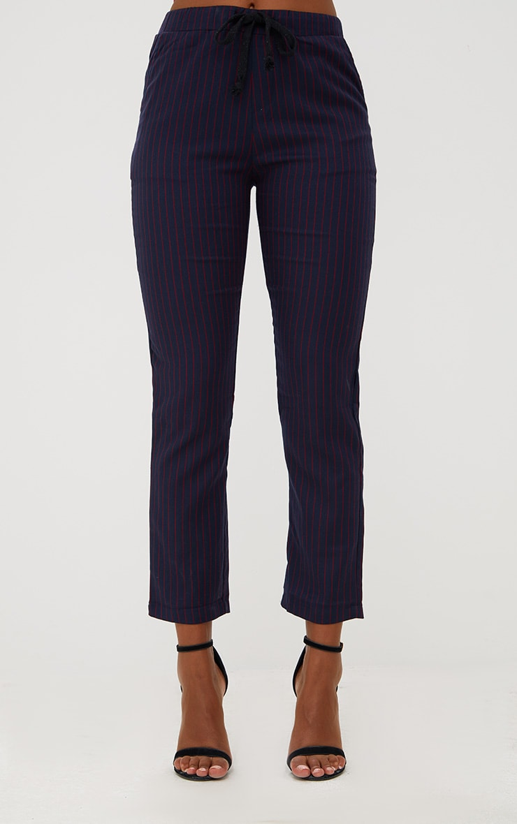 Navy Pinstripe Trousers 2