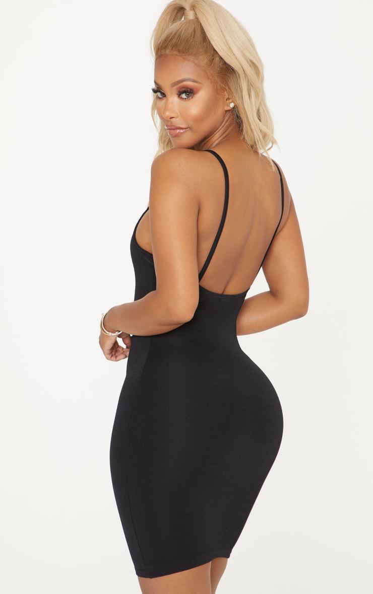 Shape Black Slinky Square Neck Mini Dress 2