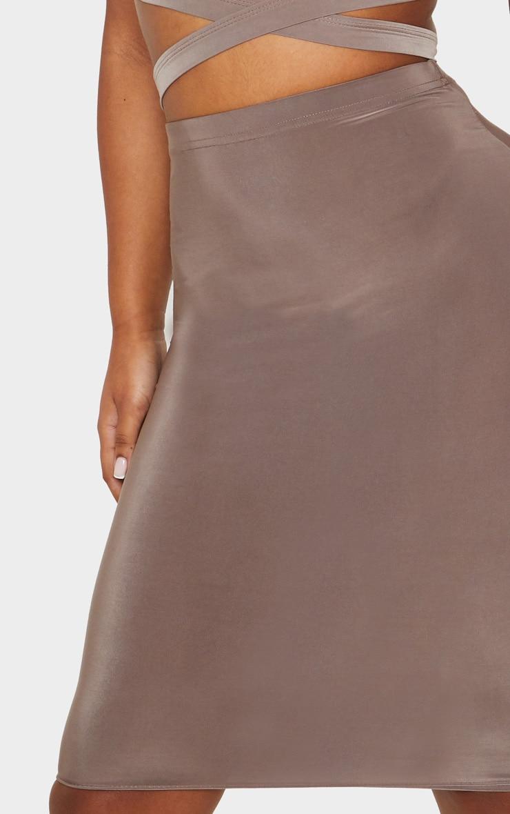 Mocha Slinky Midi Skirt 6
