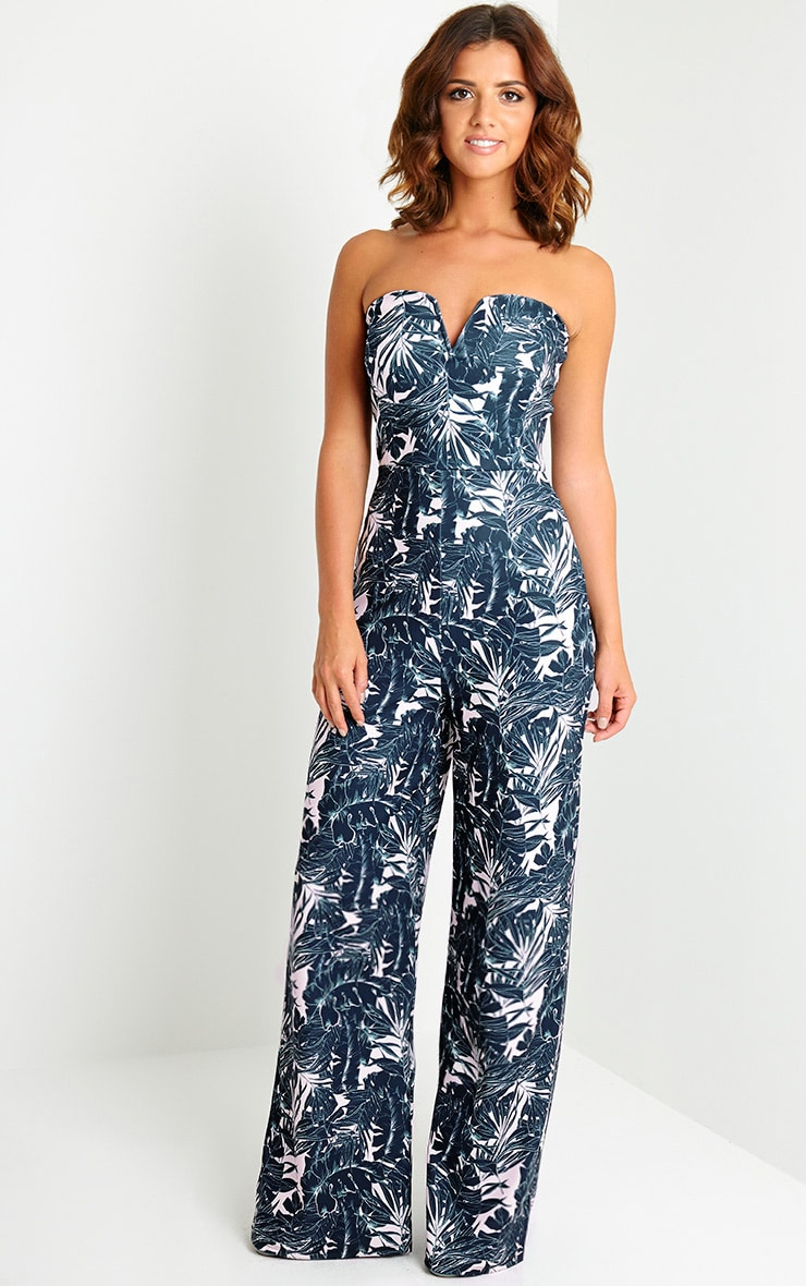 Kendra Tropical Print Jumpsuit 2