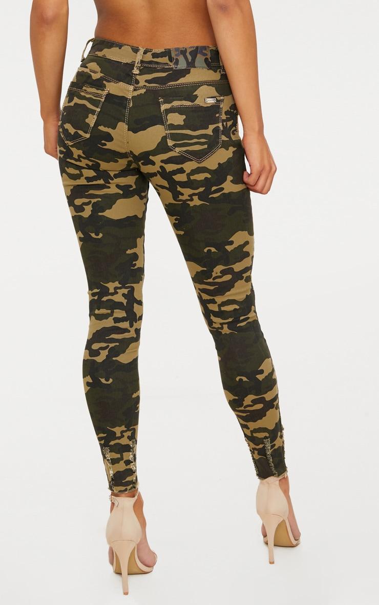Khaki Camouflage Skinny Jean 4