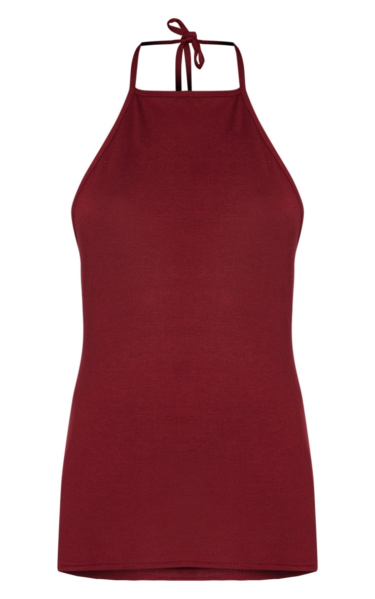 Basic Maroon Jersey Low Back Vest 3