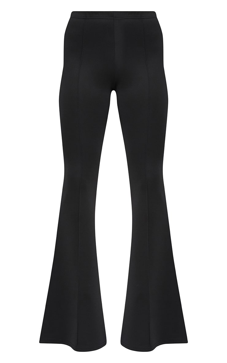 Petite Black High Waist Extreme Flare Trousers 3