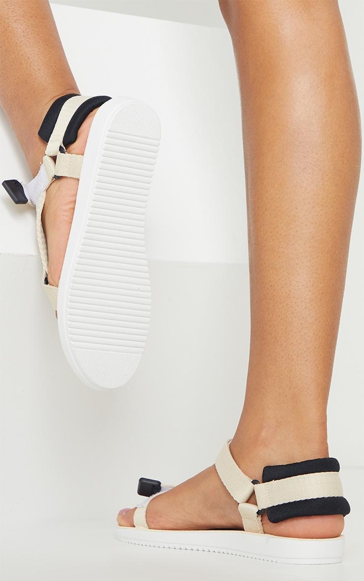 Cream Velcro Strap Sandals 2
