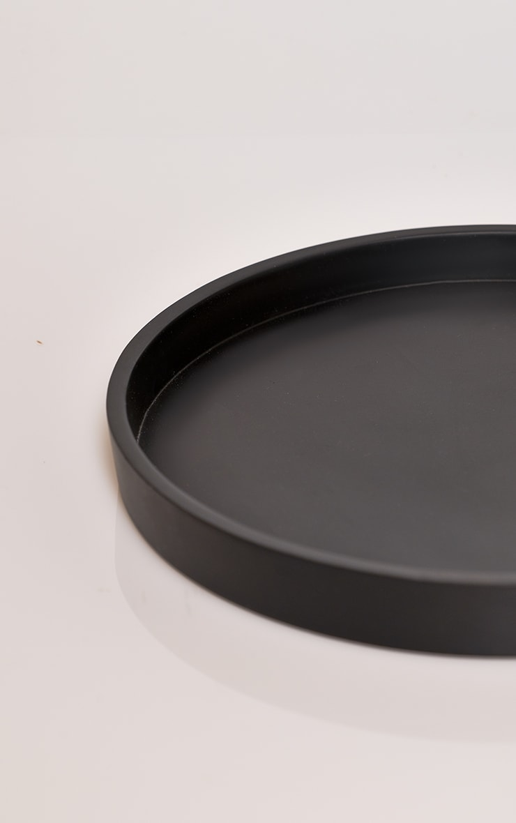 Black Large Round Resin Tray 4