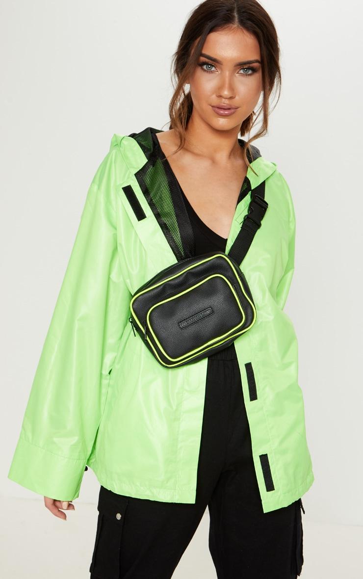 Veste à capuche vert citron fluo