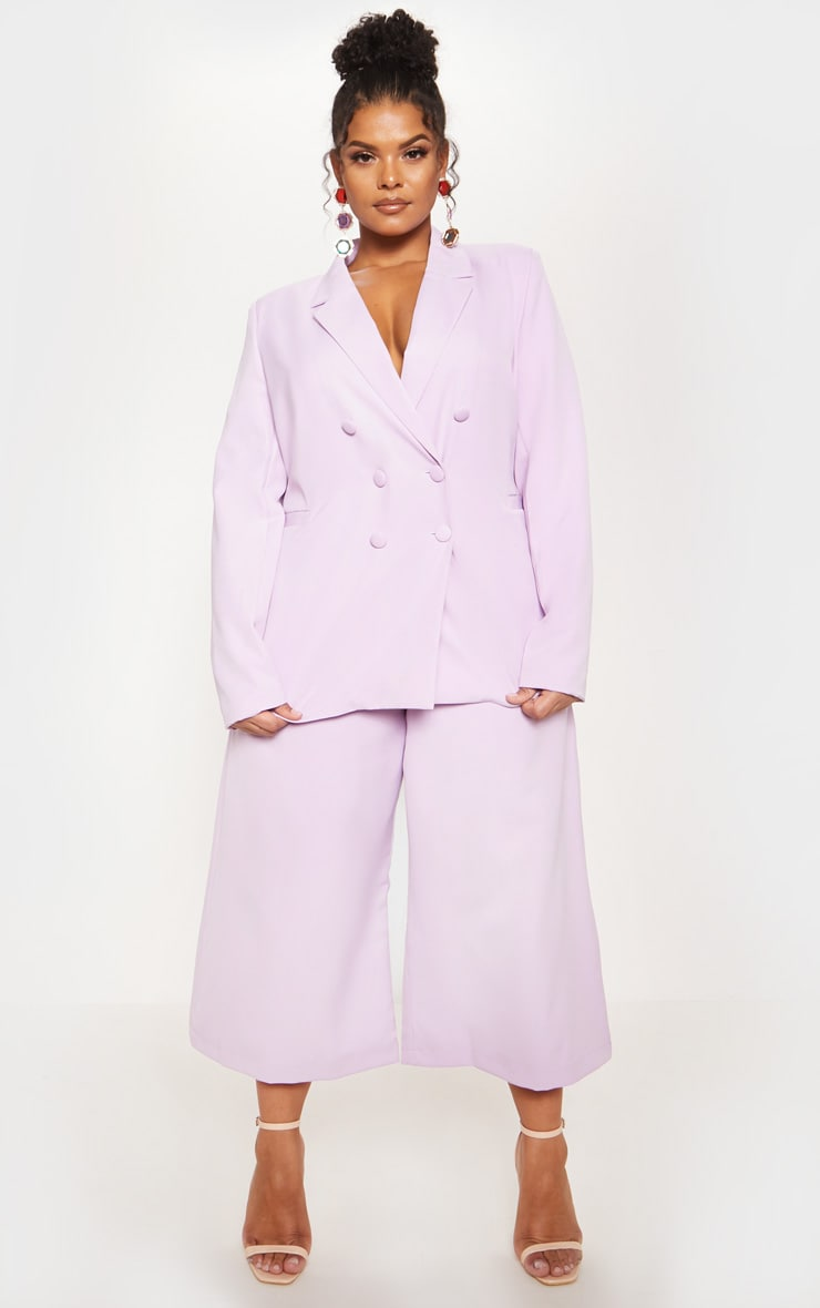 Lilac Oversized Woven Blazer 5