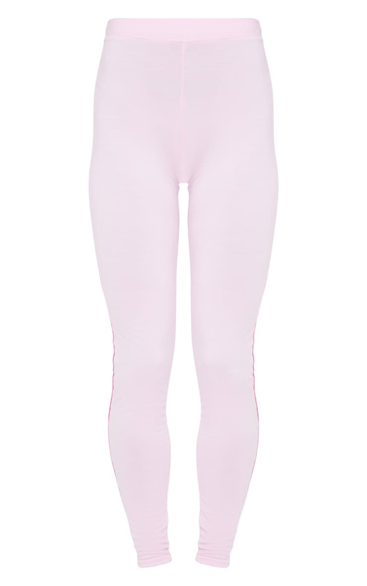 Baby Pink Contrast Stitch Legging 5
