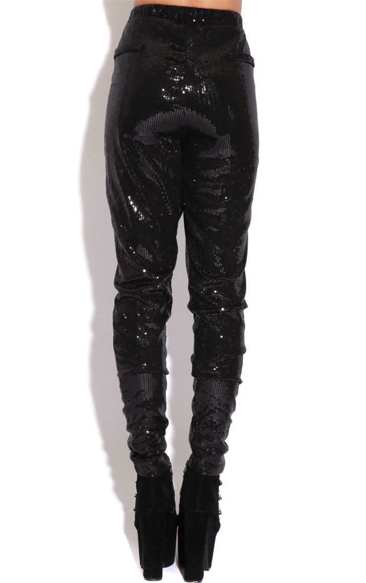 Lucia Black Sequin Trousers  4