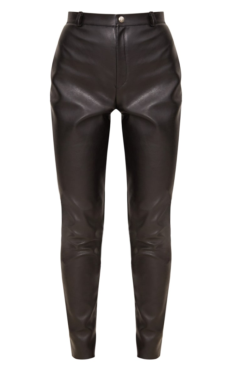 Black Faux Leather Skinny Trouser 3