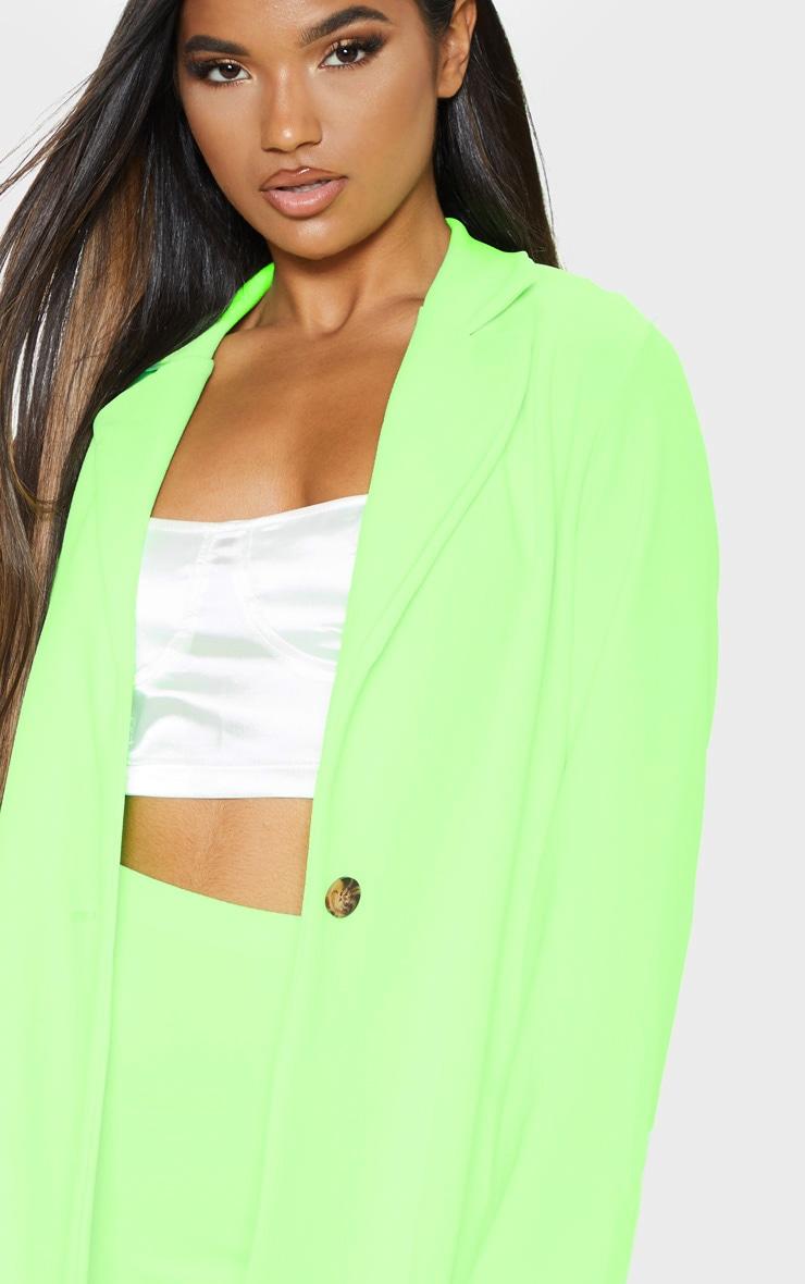 Neon Green Oversized Boyfriend Blazer  5