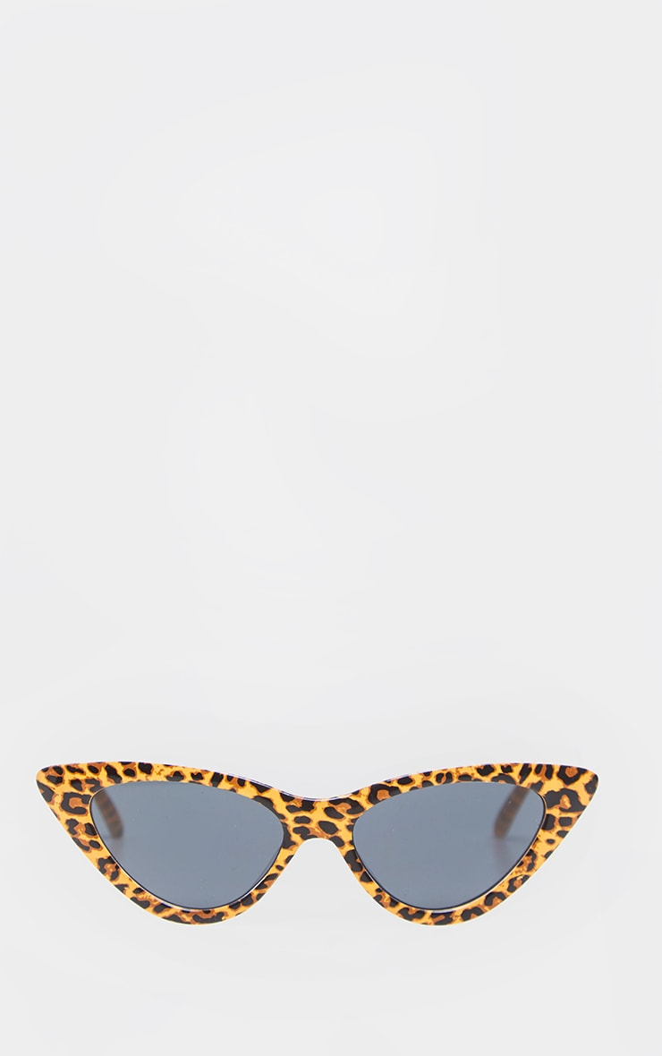 Tan Leopard Cat Eye Sunglasses 2