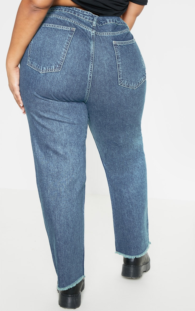 Plus Mid Wash Straight Leg Jean  4