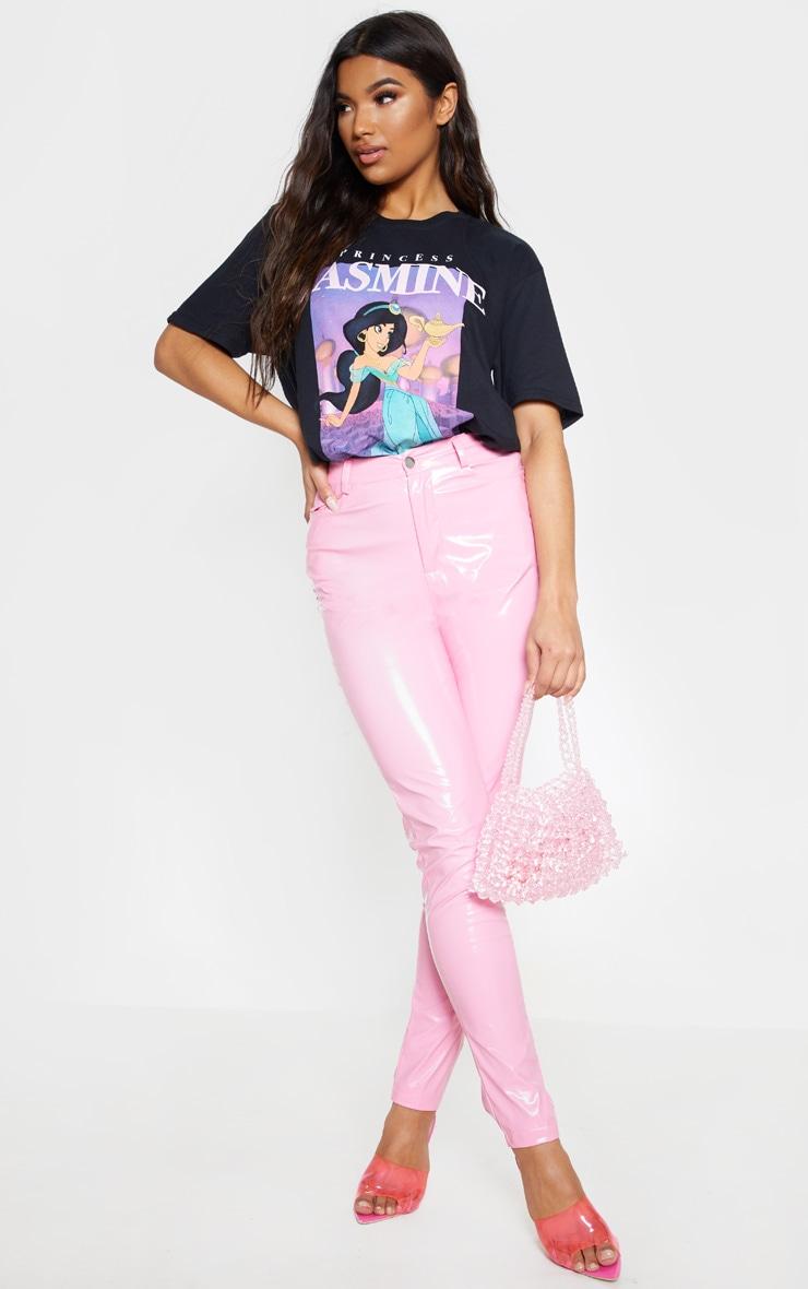 T-shirt noir imprimé princesse Disney Jasmine oversize 4