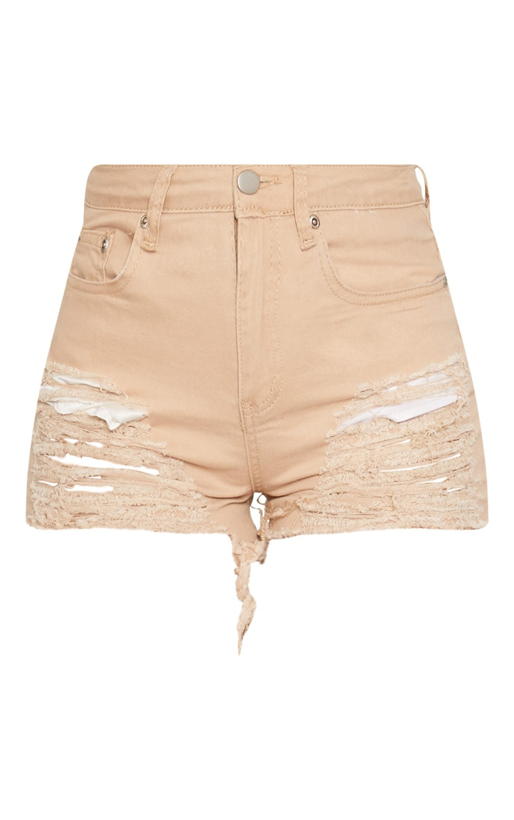 Nude Jeanie Extreme Ripped Denim Short 3