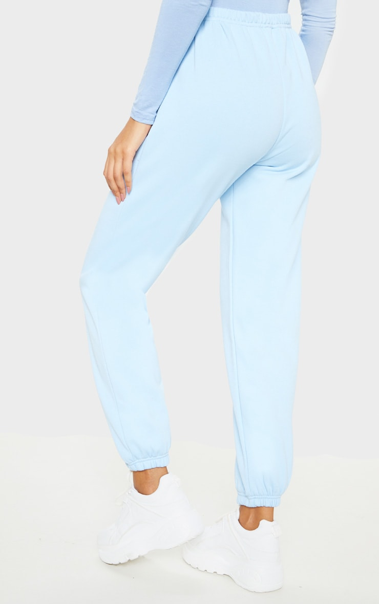 Pastel Blue Casual Track Pants 4