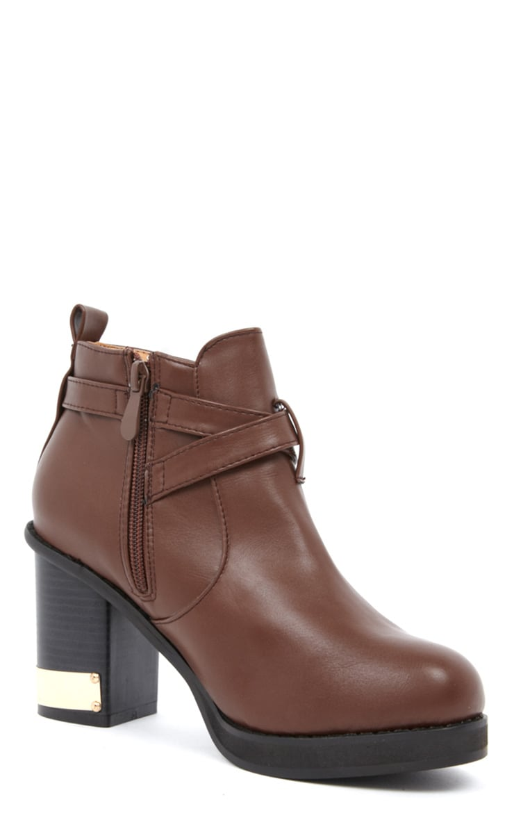 Natalie Brown Block Heel Boots 3