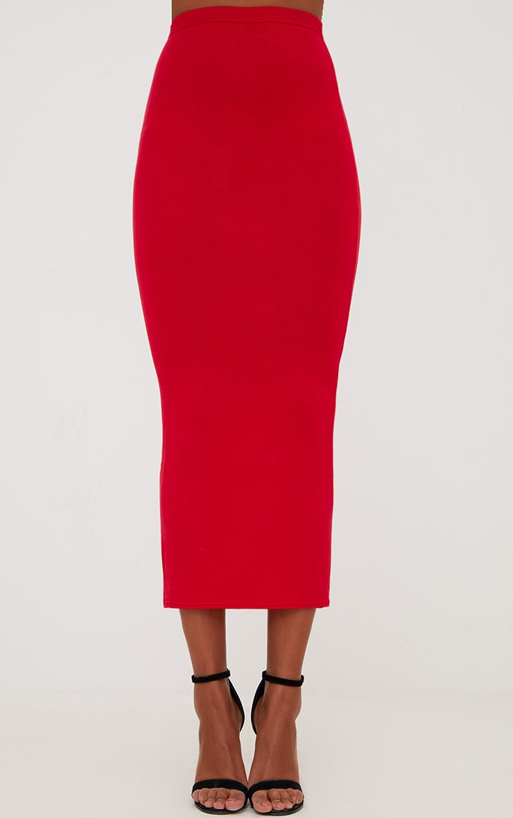 Red/Navy 2 Pack Jersey Midaxi Skirt 6