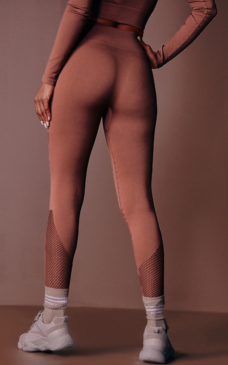 Toffee Cut Out Seamless Leggings 2