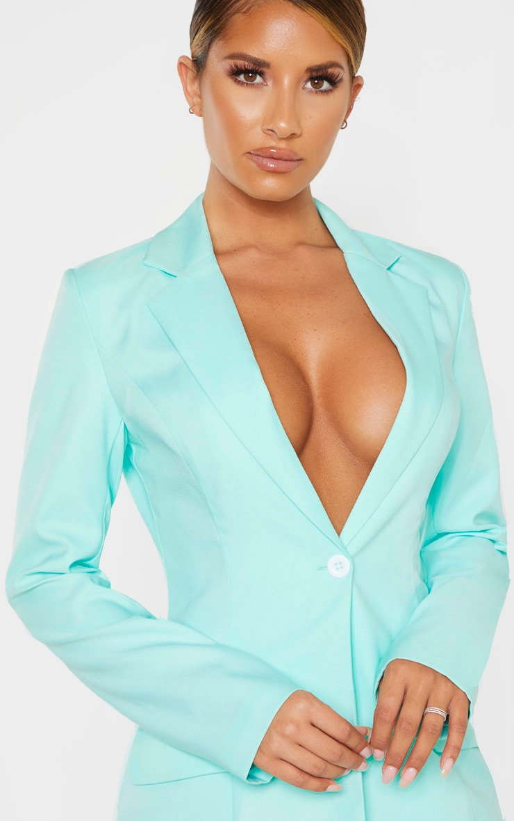 Aqua Structured Suit Woven Blazer 5