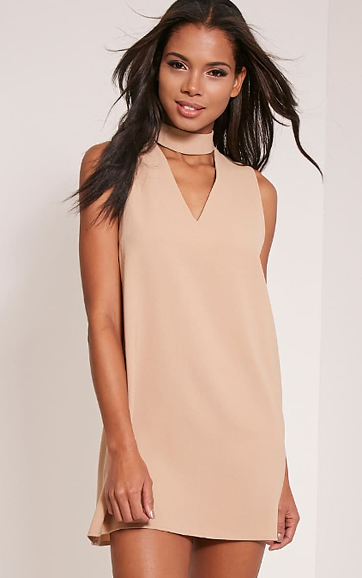 Cinder Stone Choker Detail Loose Fit Dress 1