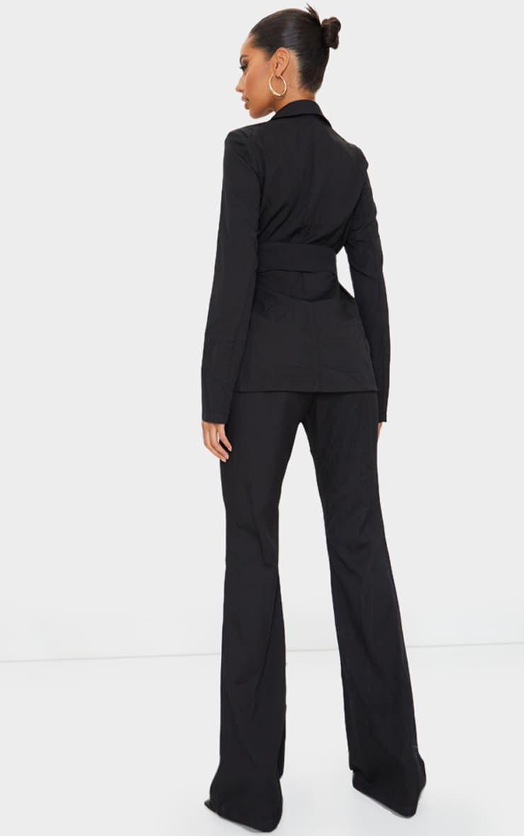 Black Pin Detail Tailored Long Sleeve Jumpsuit 2