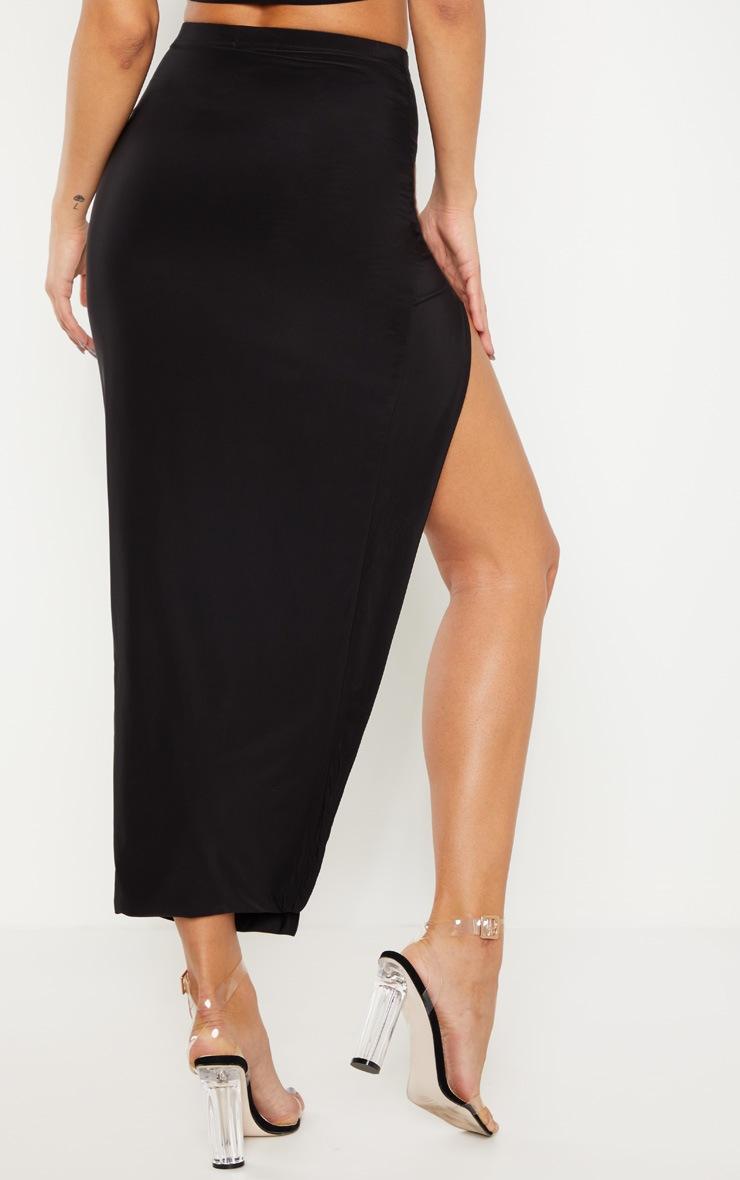 Black Slinky Midaxi Skirt 3