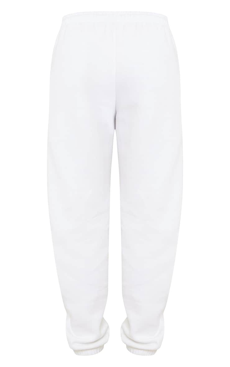 PRETTYLITTLETHING White Copyright Graphic Joggers 5