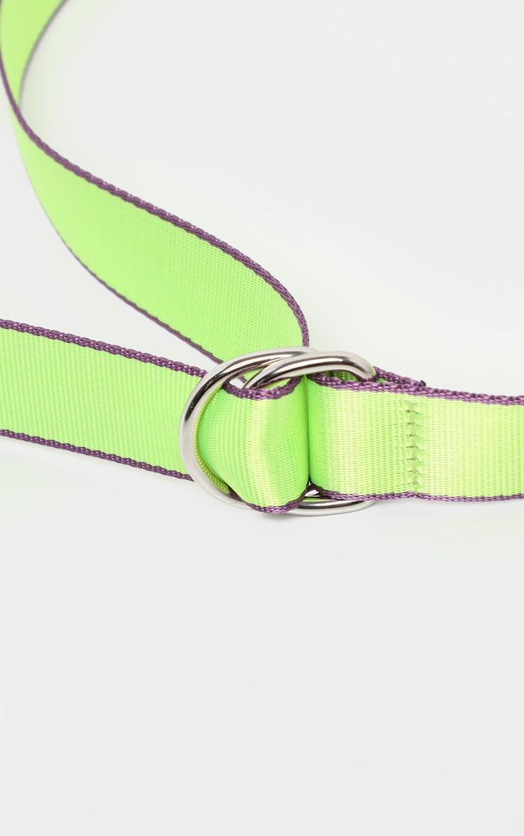 Neon Lime Webbing Belt 4