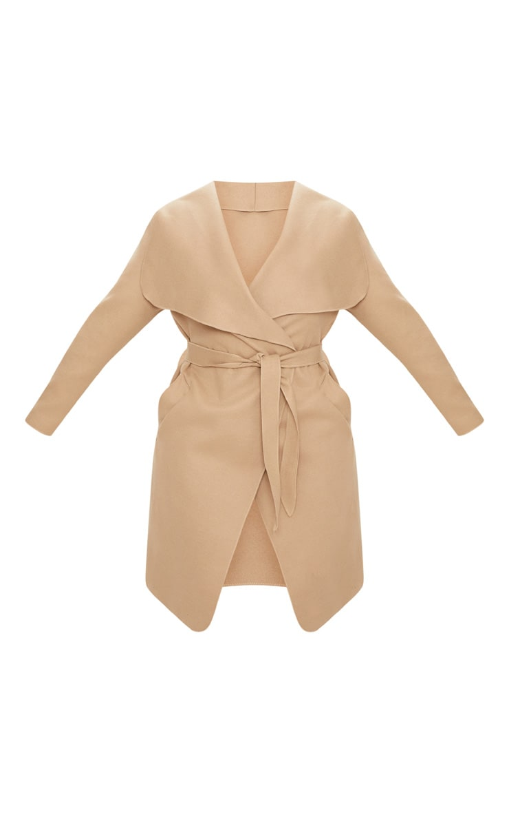 Plus Camel Waterfall Coat 3