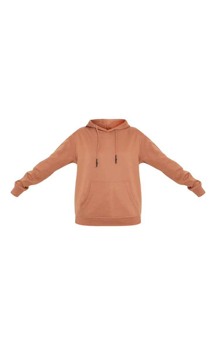 Tan Oversized Wax Toggle Hoodie 5
