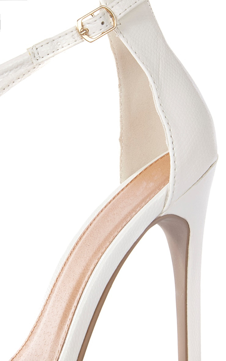 Jordan Cream Strappy T Bar Heeled Sandal 4