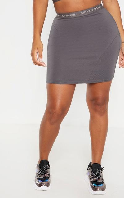 PRETTYLITTLETHING Shape Lead Grey Band Bodycon Skirt