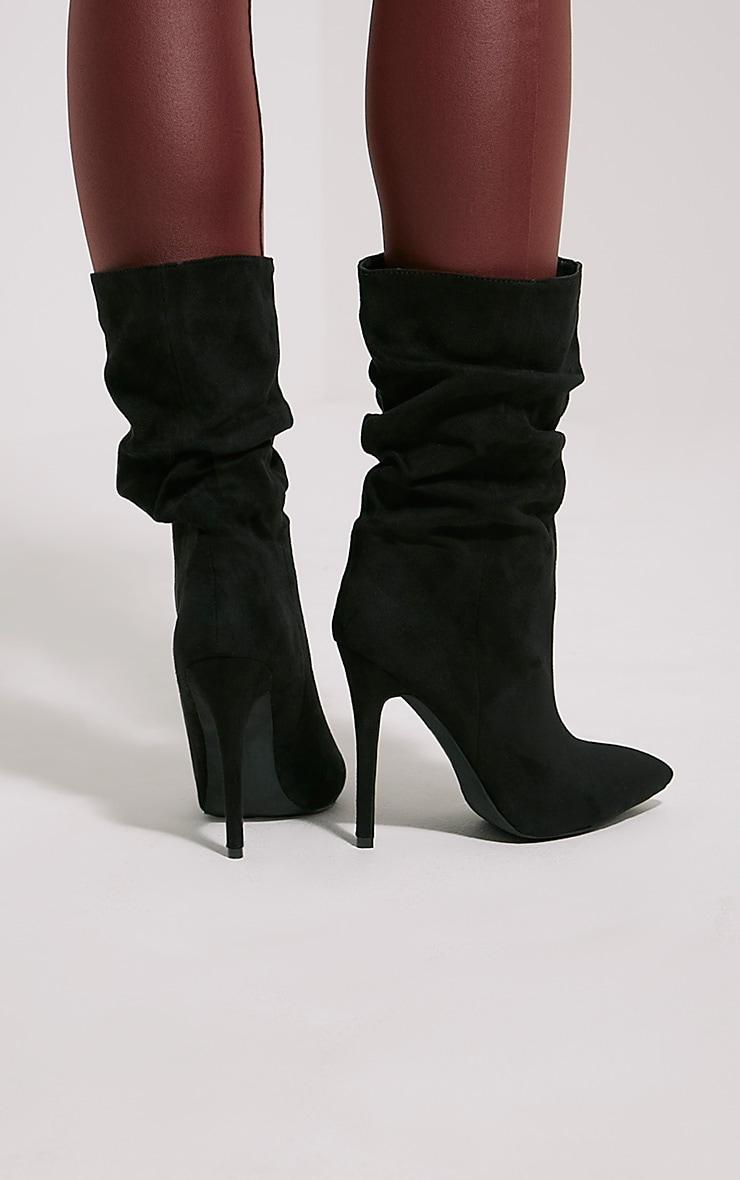 Loordes Black Heeled Calf Boots 2
