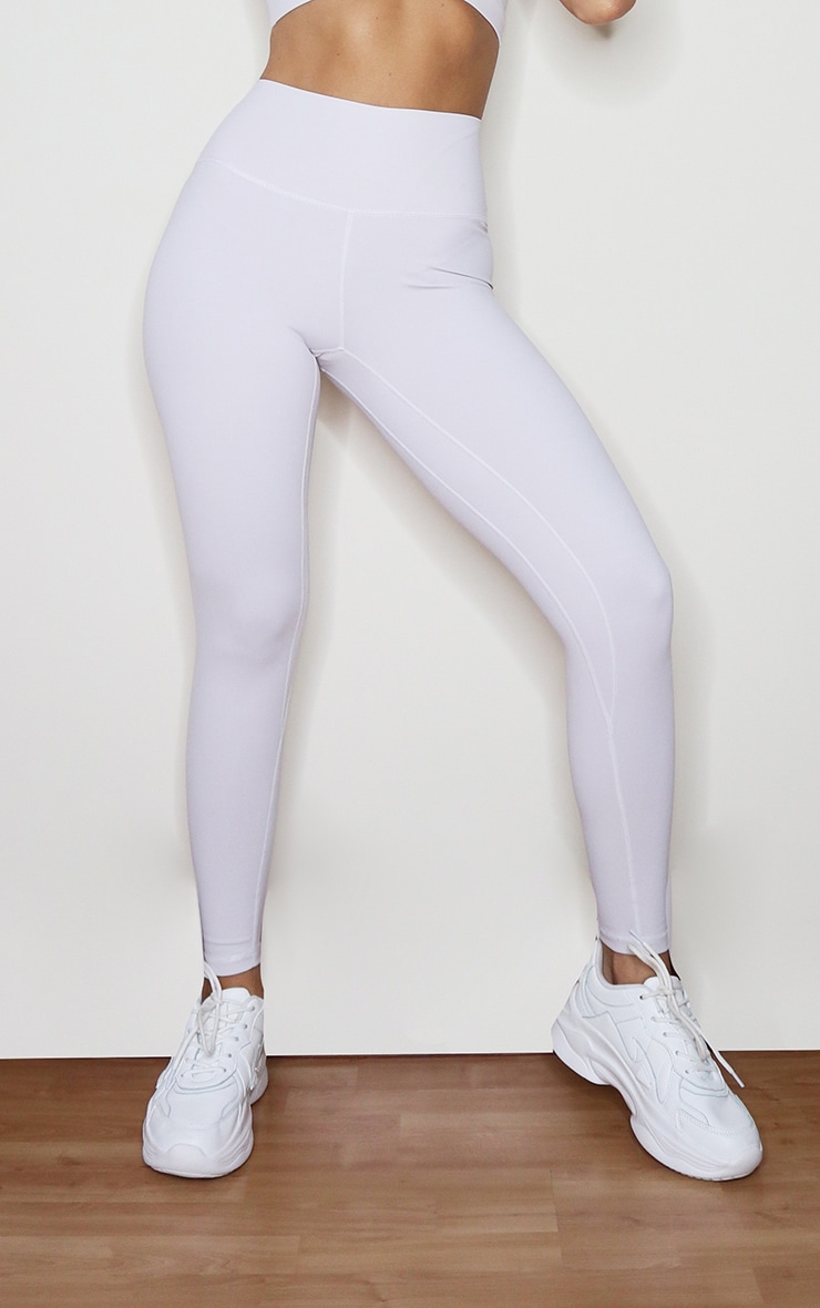 Light Grey Sculpt Luxe High Waist Gym Legging 2