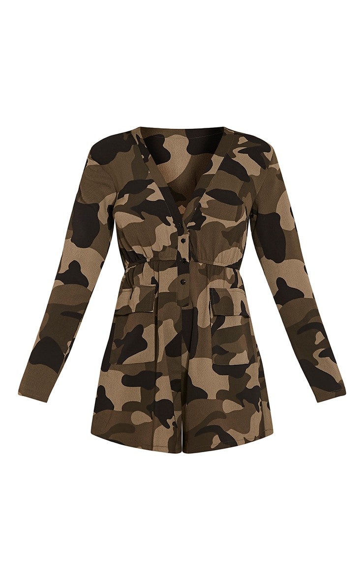 Tannie Camouflage Print Pocket Detail Playsuit 3