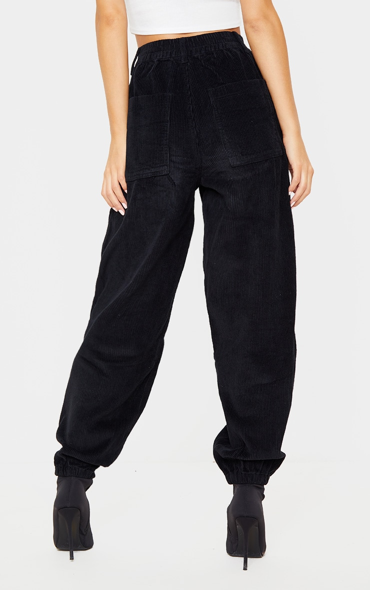Black Cord Balloon Jeans 4