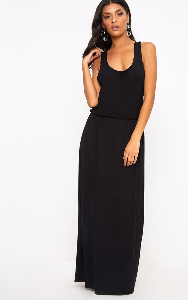 Black Bagged Over Maxi Dress 1
