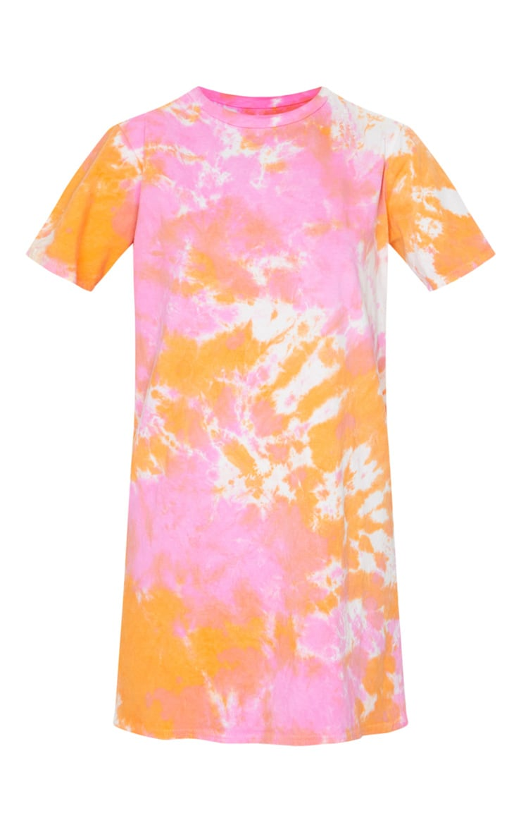 Orange Tie Dye T Shirt Dress 5