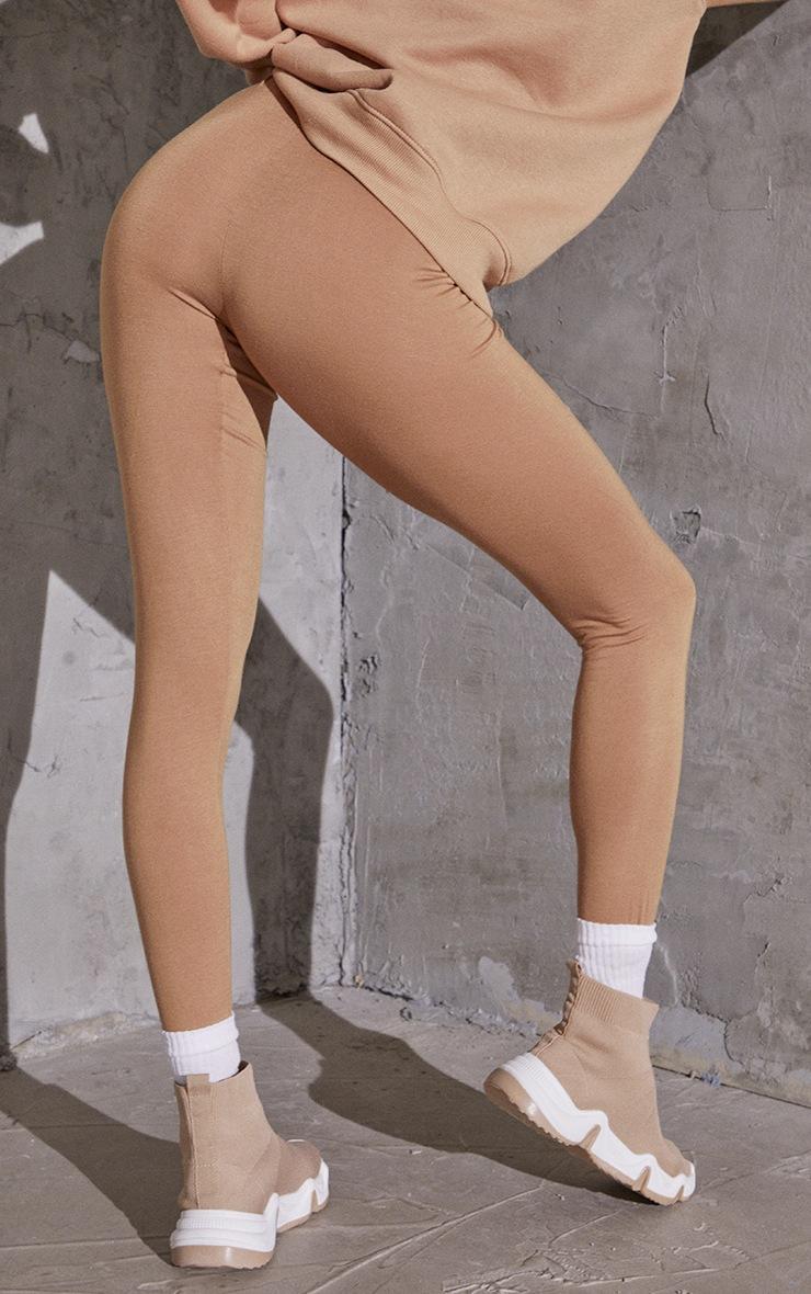 Taupe Basic Leggings 3