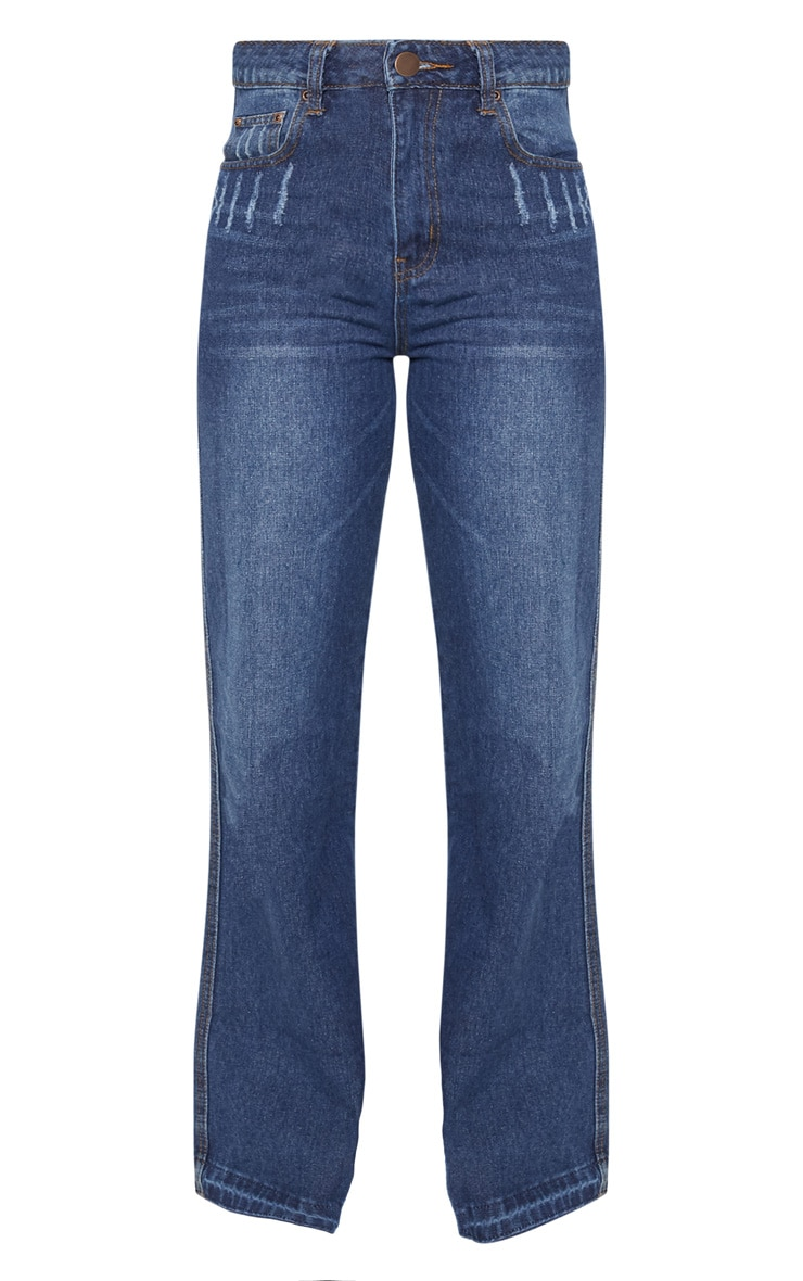 Dark Wash Wide Leg Jean  3