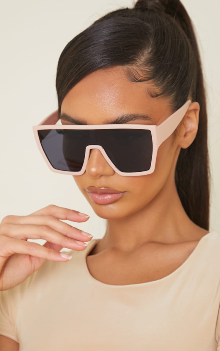 Nude Matte Oversized Squareframe Sunglasses 1