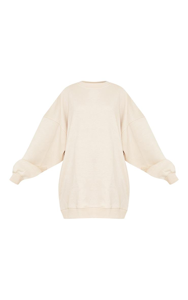 Cream Buffalo New York Slogan Sweatshirt Dress 5