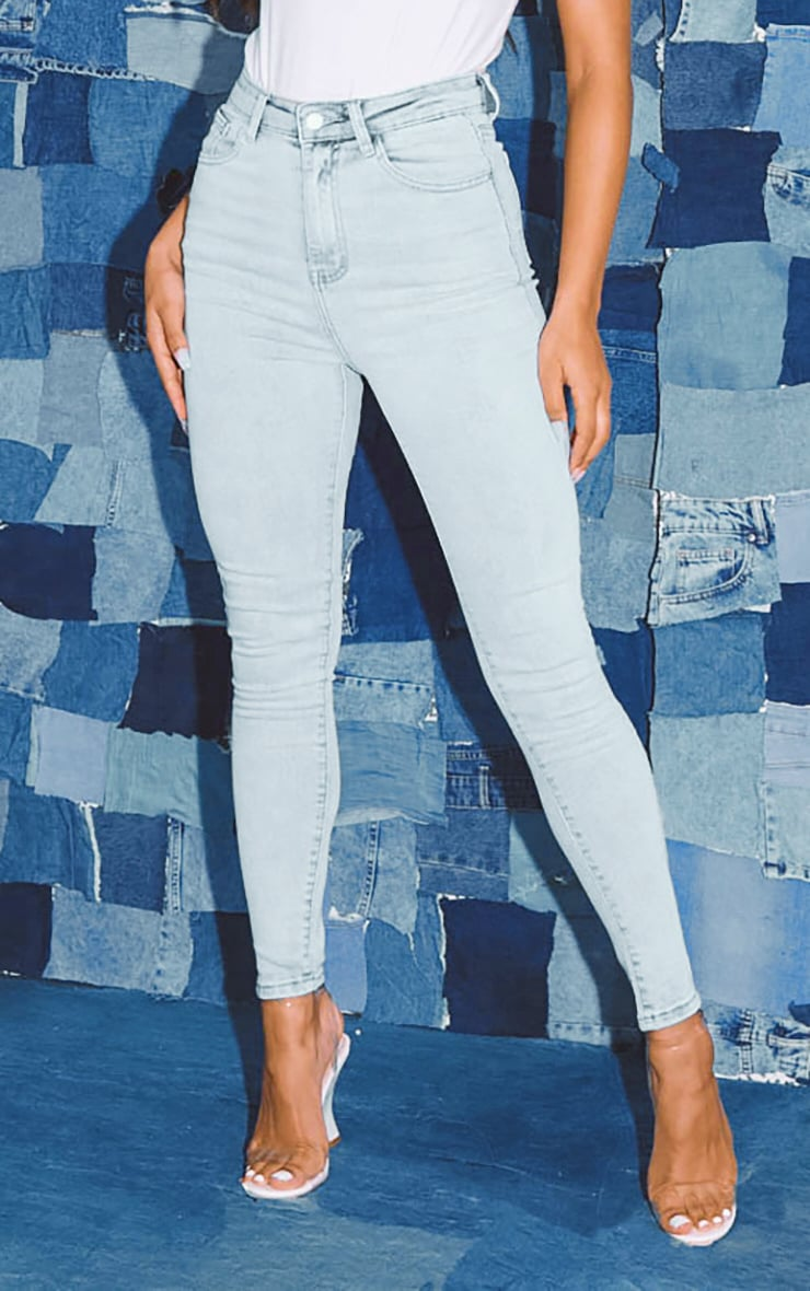 PRETTYLITTLETHING Bleach Wash 5 Pocket Skinny Jean 2