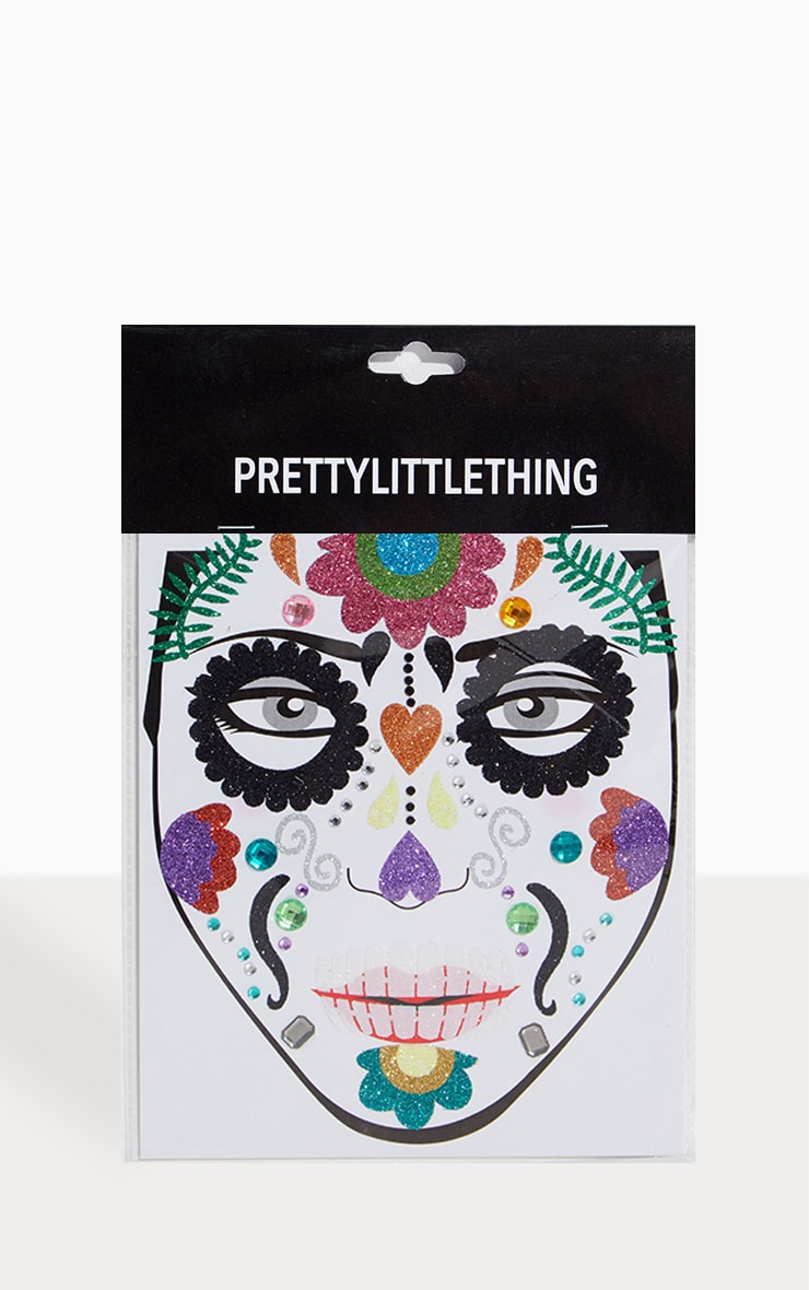PRETTYLITTLETHING Day of the Dead Halloween Stickers 1