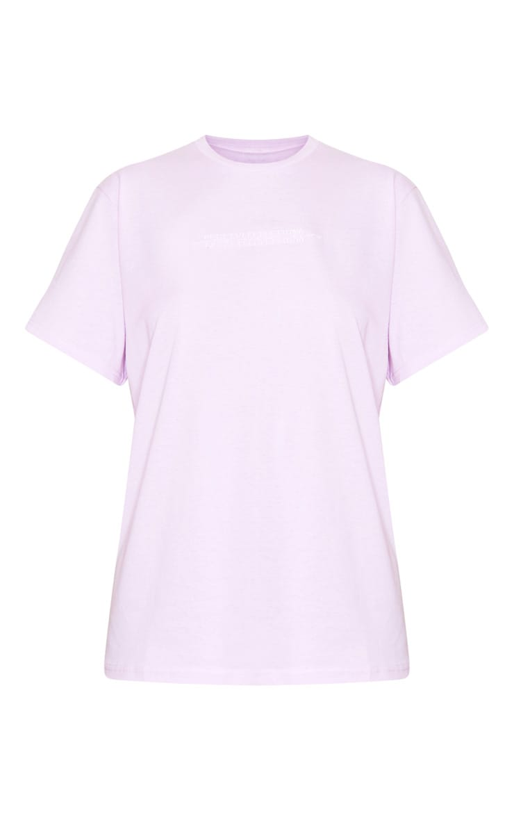 PRETTYLITTLETHING Lilac Embroidered T Shirt 5