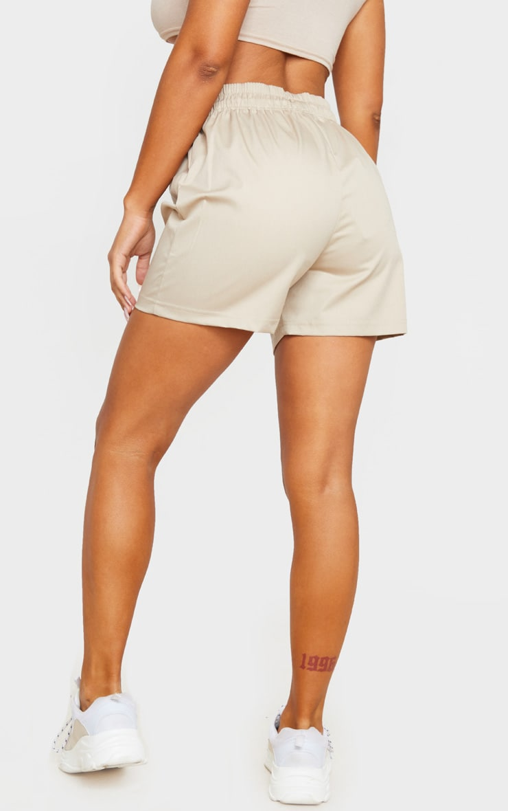 Stone Twill Drawstring Waist Shorts 3