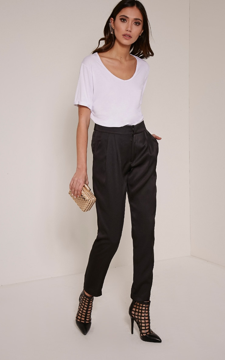 Floss Black High Waisted Tapered Trousers 5