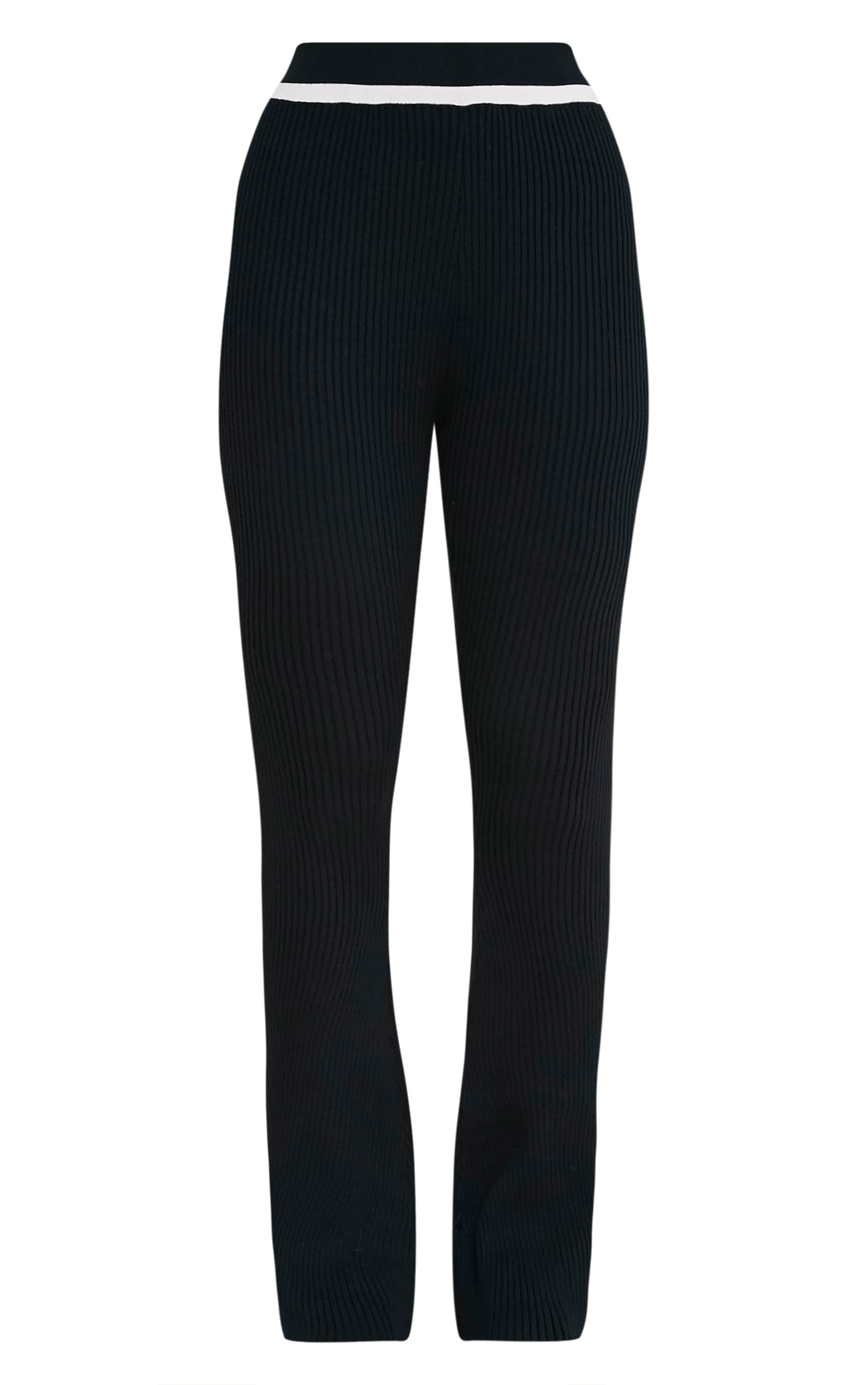 Sufiya Mono Colour Block Knit Ribbed Trousers 3