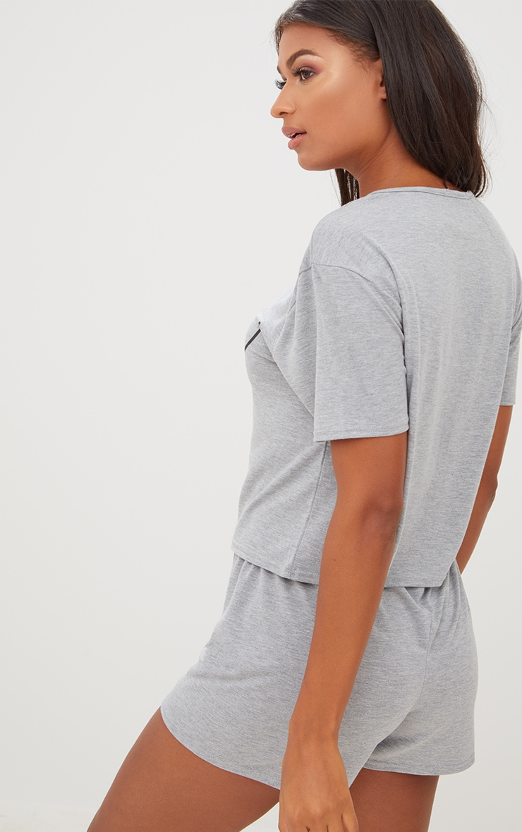 Grey Boob Slogan Pj Set 2